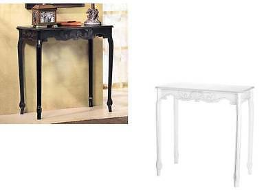 Modern Shabby Distressed Chic Carved Cottage Country Wood Sofa Entry Hall Table