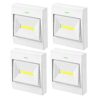 Battery Operated COB LED Cordless Light Switch, Mount in Bedroom, Closets, Cabin