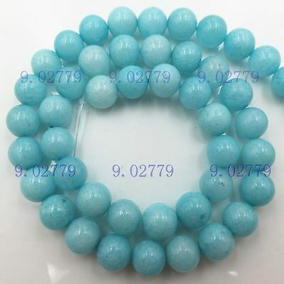 """AAA Amazonite Natural Gems Round Loose Beads 15""""Chain Jewelry Making Accessories"""
