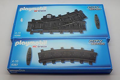 Playmobil Schienen Set Gleis Gleise Bahn Kunststoff RC Train 4387 4389