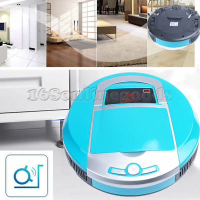 Robot Robotic Vacuum Cleaner Clean Hard Floor Kitchen Mop Recharge Auto Blue AU