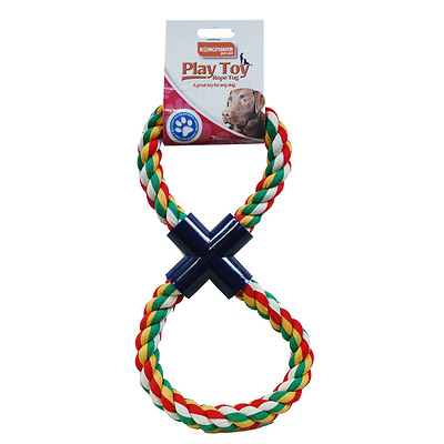 Pet Pets Dog Dogs Toy Toys Tug Rope Figure Of 8 Tug Of War Uk New
