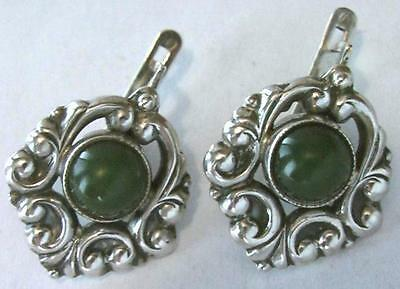 Earrings Silver 925 tests of the USSR 7.15 grams on the stone