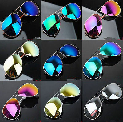 Elegant Men Women Summer Eyewear Reflective Lens Sports Sunglasses FE