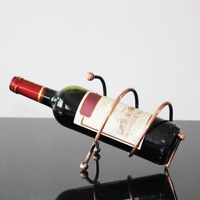 Bottle Wine Holder Ornament Decor Kitchen Gift Novelty Rack Stand Cooper