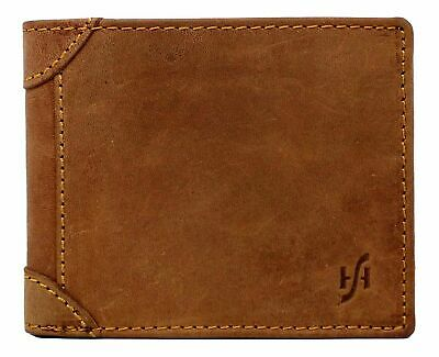 Primehide Mens Luxury High Quality Real Leather Coin Purse Wallet 4005 Brown