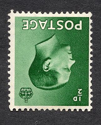1936 SG 457Wi 1/2d Green Inverted Watermark Mounted Mint R6705 CAT £10
