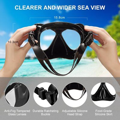 Mares Snorkel Set Combo - Silicone Wide View Mask and Purge Valve Snorkel Black