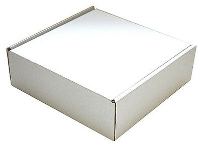 240mm x 240mm x 80mm White Small Parcel Die Cut Postal Mailing Shipping Boxes