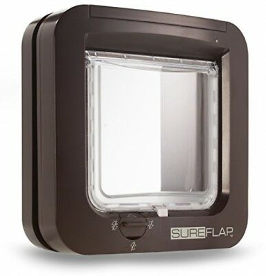 Cat Flap Microchip Sureflap Brown White Smart Mate Dualscan Glass Plastic