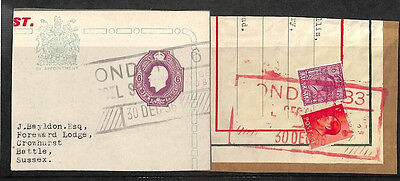 KK264 1936 London Battle Sussex x2 Stamp England GB {samwells-covers}