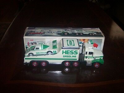 1988 Hess Toy Truck and Racer - in Original Box!  NEW