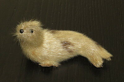 Vintage Seal Otter Sea Lion Real Fur Toy Animal Figurine Collectible