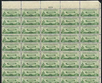 #c18 Sheet Of 50 Vf // Xf-Superb Og Nh Cv $4,685++ Wlm3761