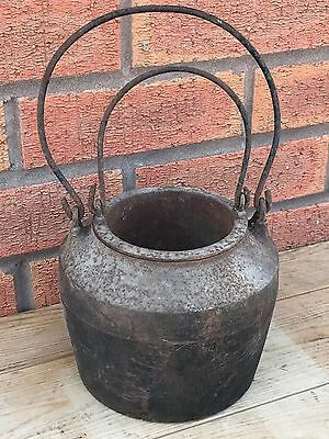 Vintage Cast Iron Kenrick Glue Melting Pot Smelting Crucible 2.3kgs