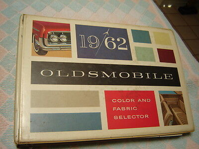 1962 Oldsmobile Dealer Album Colors Fabrics (as is or will part out pages)