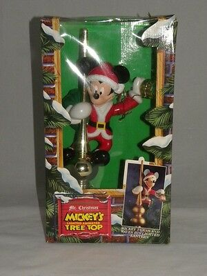 Mr Christmas Mickey's Tree Topper In Box Mickey Mouse Working Condition