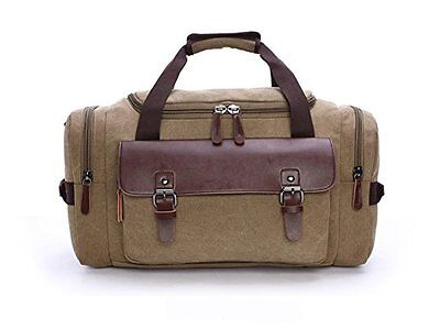 Chansea Canvas Travel Duffel Bag with Big Capacity Gym Tote Bag Weekend Bag Carr