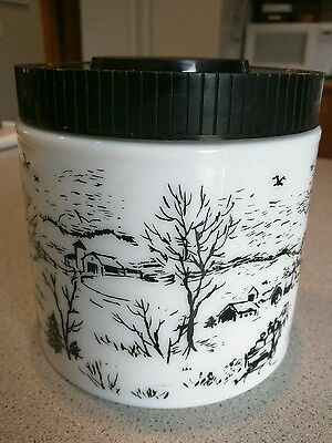 Vintage Canister Maxwell House Milk Glass Coffee Sugar Cookies Container Lid