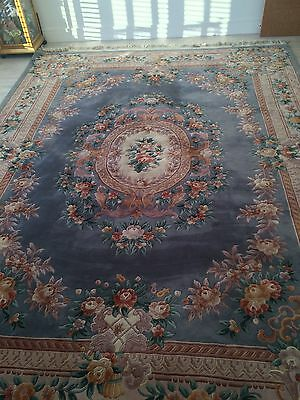 """Chinese Carpet, large beautiful hand made blue 360cms x 274 cms. (11' 10"""" x 9')"""