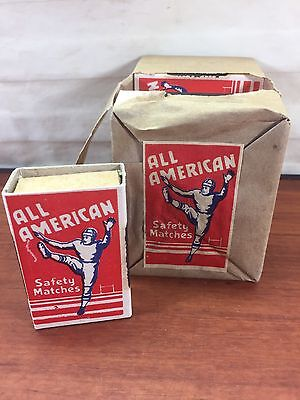 Vintage Match Box Collectible All American Football Advertising Match Books