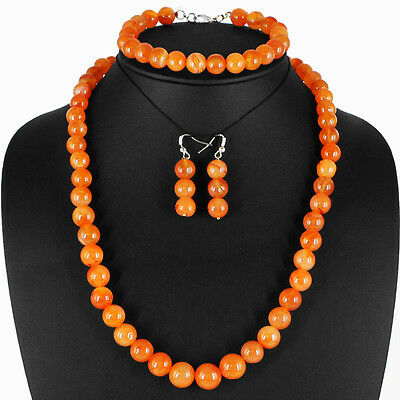 Fabulous Best Ever 492.05 Cts Natural Unheated Orange Carnelian Beads Necklace