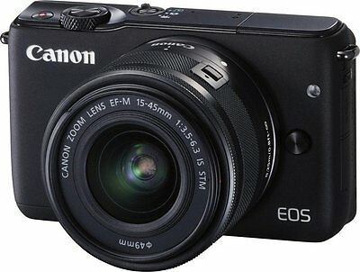 Canon EOS M10 Kit mit EF-M 15-45mm BLACK