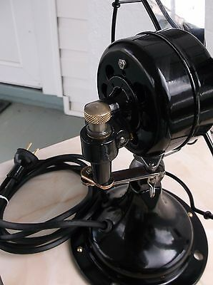 """ANTIQUE/VINTAGE/DECO 30's ELECTRIC 10"""" OSCILLATING FAN-PROFESSIONALLY RESTORED"""
