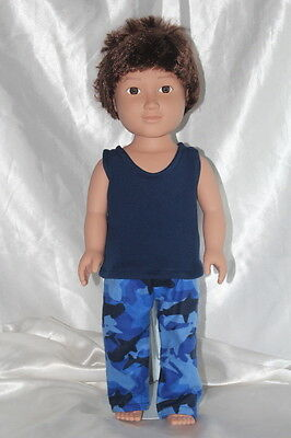 Pajamas for 18inch American Girl Logan Boy Doll Clothes