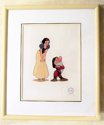 Disney Limited Edition Snow White with Grumpy Serigraph Cel