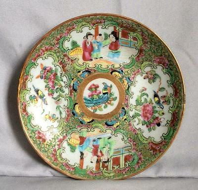 Antique 19Th Century Chinese Famille Rose Hand Painted Porcelain Plate - Dish
