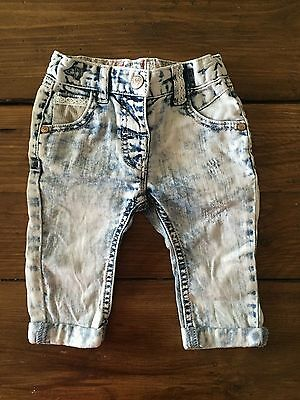 Next 3-6 months girls stone washed jeans