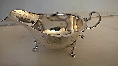 Antique Solid Silver Sauce Boat By John Collard Vickery - 1908