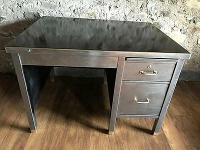 Stunning Vintage Mid Century Stripped Metal Desk  Office Desk