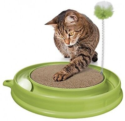 Cat Kitten Toy Scratcher Catit Play N Scratch Kitten Scratching Chase Ball Green