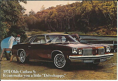 MA-058 - 1974 Olds Cutlass S, Wyant Oldsmobile, Marion, IN, Advertising Postcard