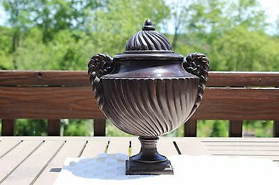 Beautifully Detailed BRONZE URN Original cost $265-  attached photo from catalog
