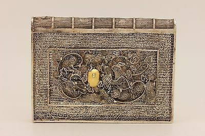 Antique Original Silver Filigree Amazing Anatolian Quran Container