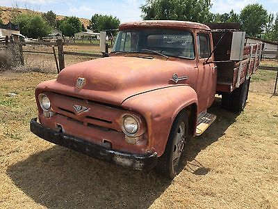 1956 Ford F-100 F-500 56 Ford F 500 Flatbed Truck 272 Y Block 2 Speed Rearend Runs Good NICE!!
