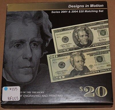 Series 2001 & 2004 $20 Federal Reserve Matching Set JE462