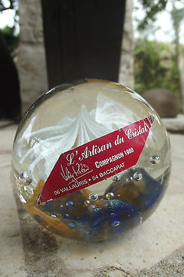 Sulfure Cristal Presse-papiers Paperweight  Vallauris / Baccarat compagnon 1980