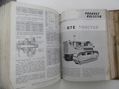 1959-1963 Caterpillar Product Bulletin Tractor Service Binder Vintage Big 100+