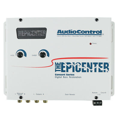 AudioControl The Epicenter (Sierra White) Bass Booster Expander + Remote New