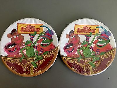 Vintage 1978 The Muppets Happy Birthday Fozzie Kermit The Frog Party Plates