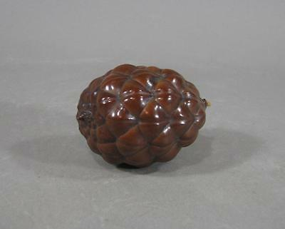 Nice Antique Chinese Lacquered Fir Cone, Rare Scholars Handling Object