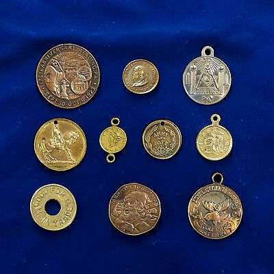 150 Years of Monetary Fraternal & Commemorative Tokens & Medals - Lot of 10