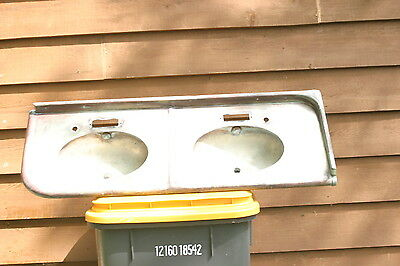 Antique Vintage  copper  double sink with countertop 1910