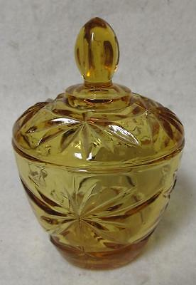 Hard to Find Anchor Hocking Early American Prescut Honey Gold Sugar / EAPC Glass