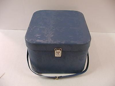 Nice Vintage Air Lander Wig Hat Box Travel Storage Case With Head And Key