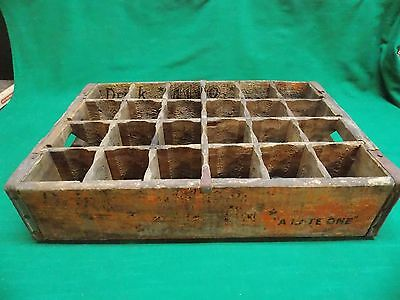 Vintage Ale 8 1 wood crate A Late One Winchester Kentucky. 24 bottle slots
